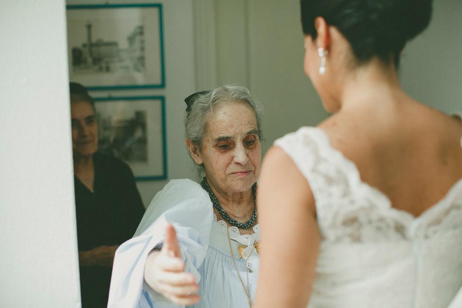 la bellissima nonna di Francesca la mattina del matrimonio