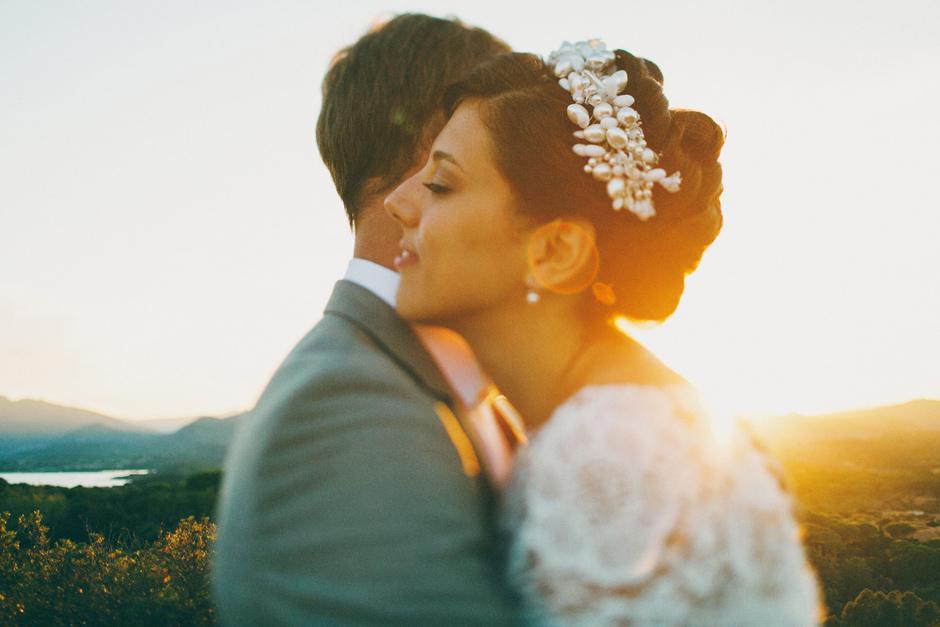 Bride and Groom at Capo Coda Cavallo