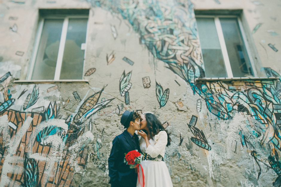 crisa mural samisen wedding portrait