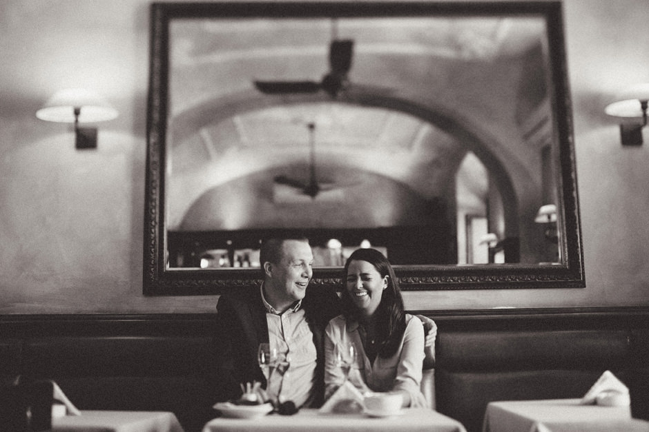Hilde and Lauritz at Antico Caffe