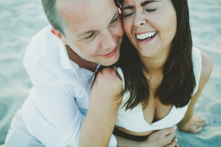 Hilde and Lauritz engagement shooting at Cagliari's beach The Poetto