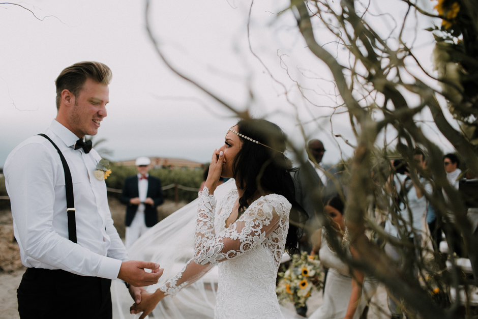 groom sees the bride