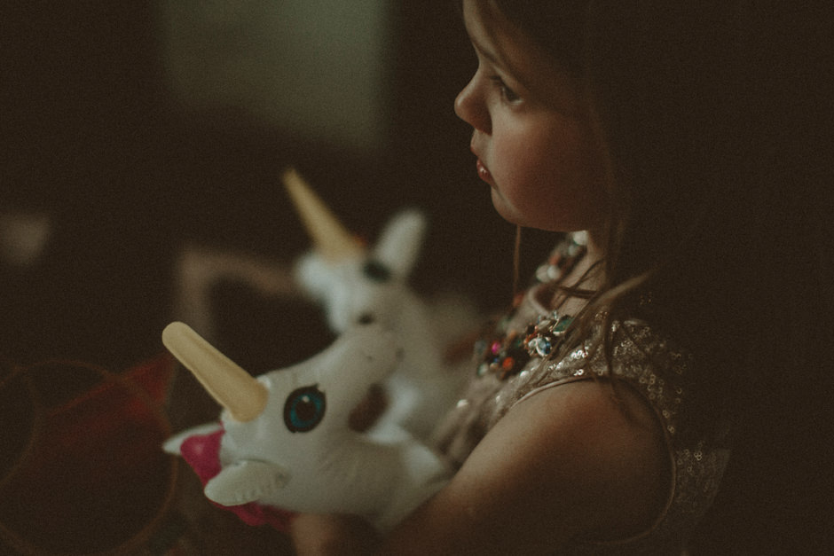 flower girl with unicorn