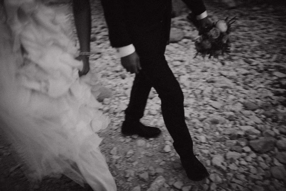 out of focus black and white wedding photos