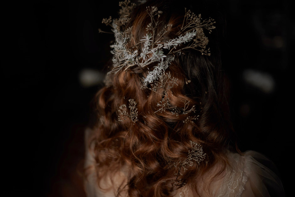 amazing hair style with aromatic  decoration by chez domi
