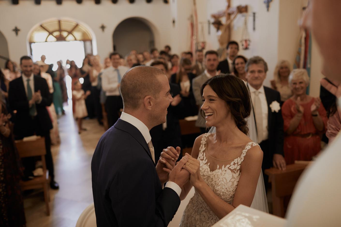 reportage durante la cerimonia religiosa del matrimonio di Donatella e Damiano