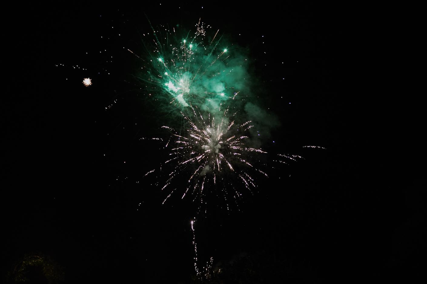 i fuochi d'artificio che lo sposo ha organizzato come sorpresa per la sposa