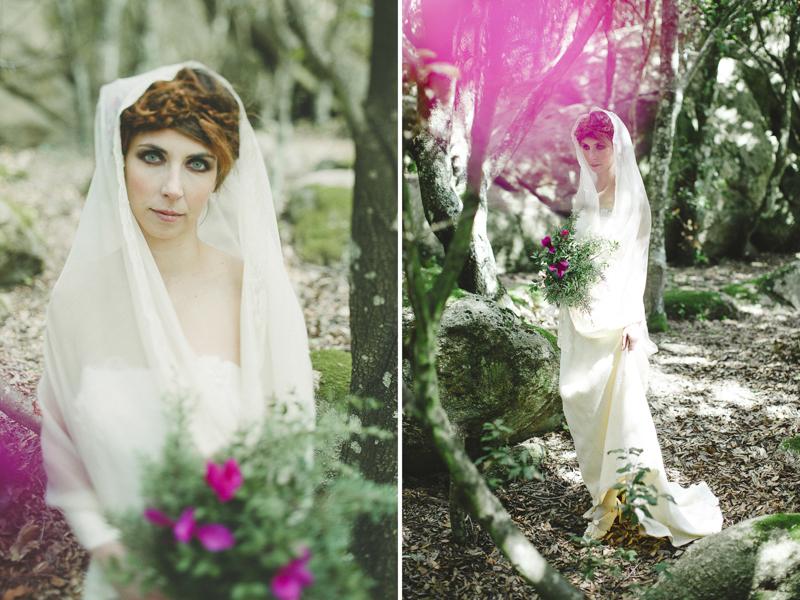 bride portrait in Monte Ortobene