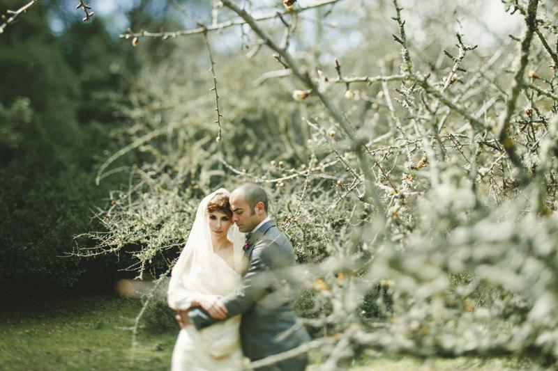 bride and groom portrait in Monte Ortobene
