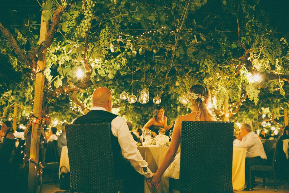 the beauty of a dinner inside a vineyard