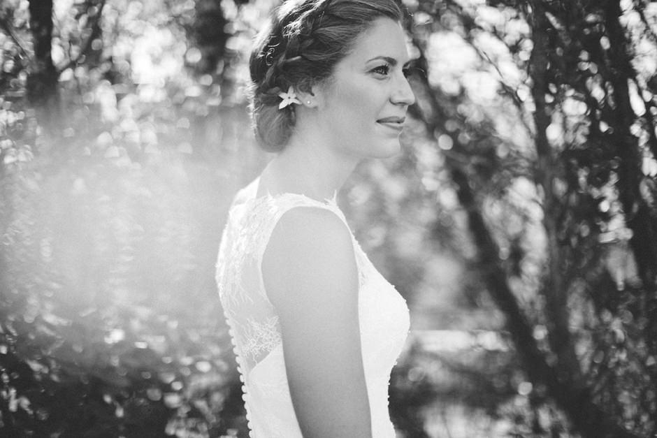 romantic bride portrait