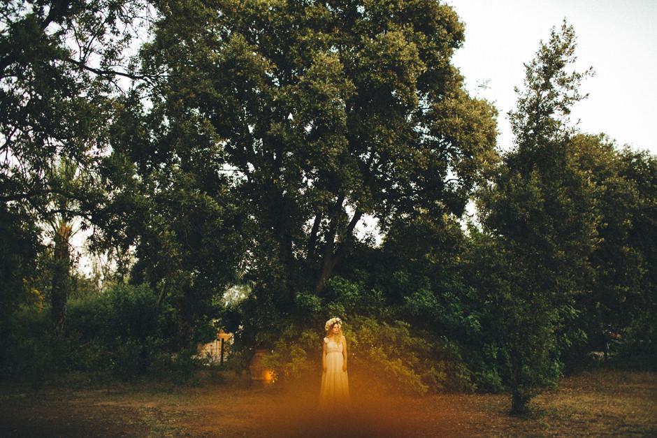 The bride at Lanthia in Santa Maria Navarrese
