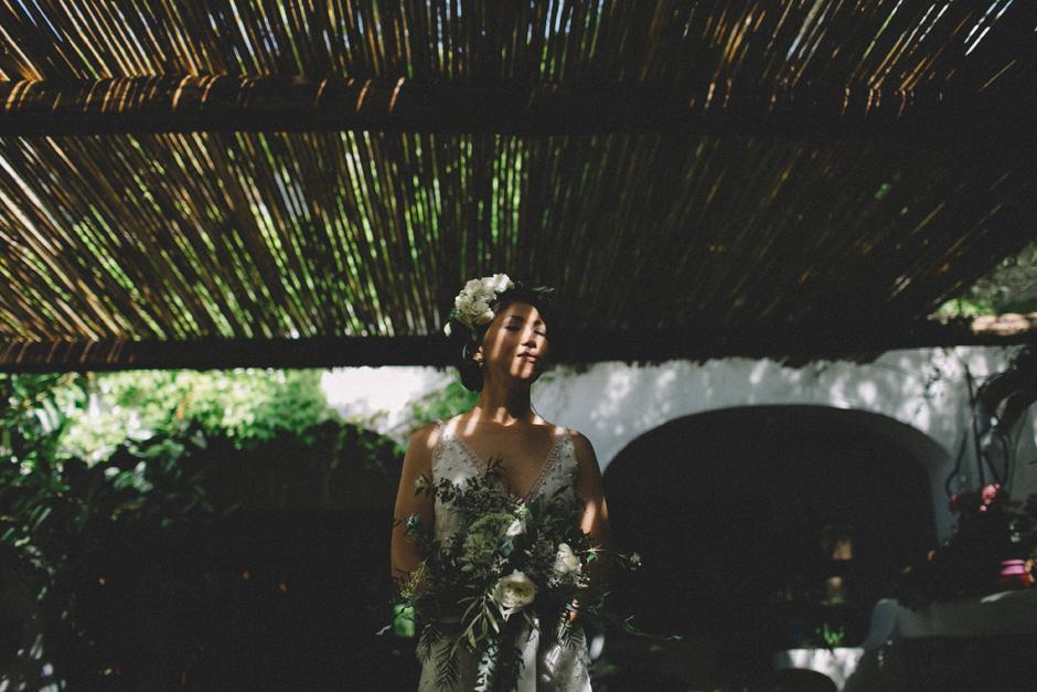 ritratto della sposa presso Hotel Su Gologone