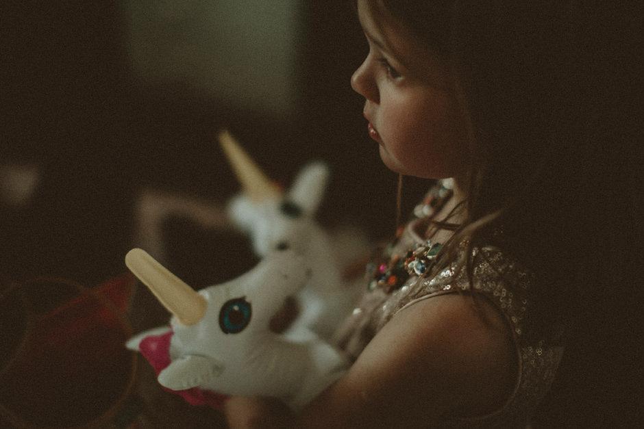flower girl with unicorn
