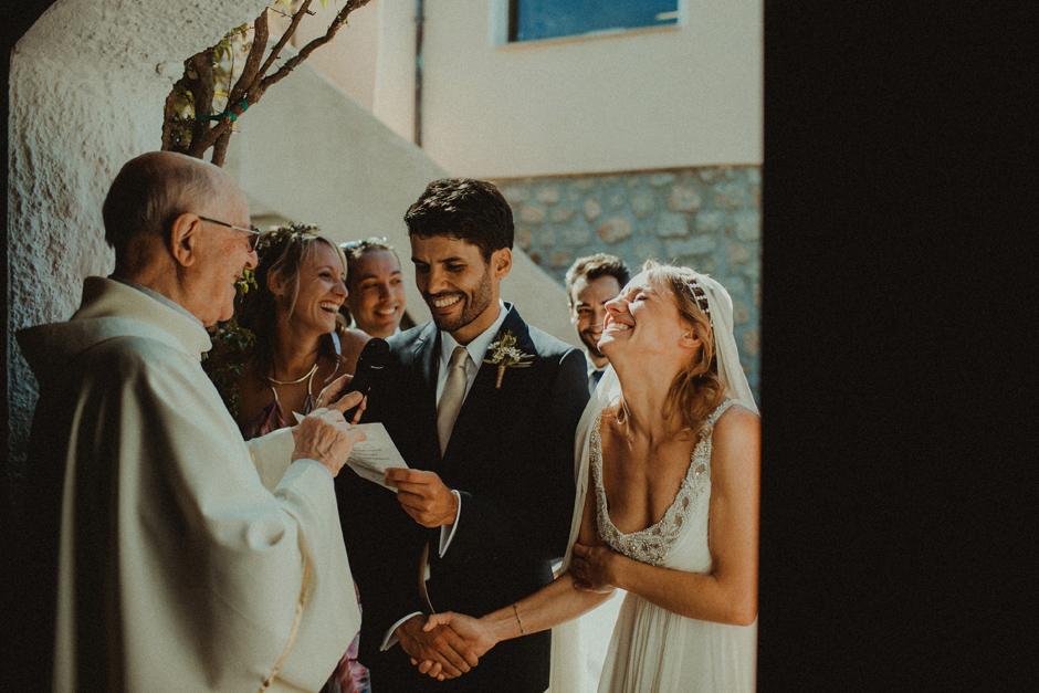 la cerimonia presso la chiesa di porto rafael Costa Smeralda