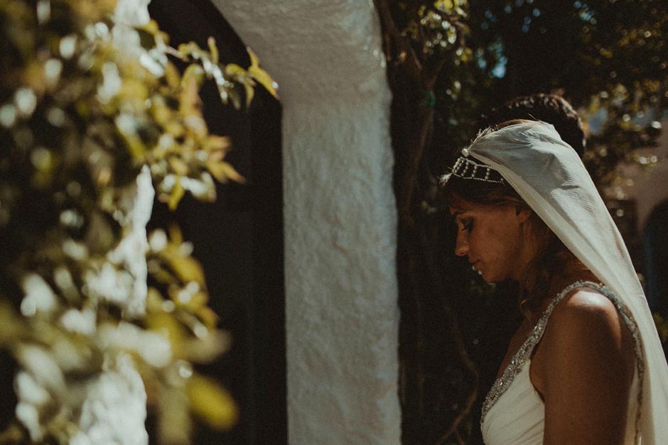 Caterina durante la benedizione degli sposi