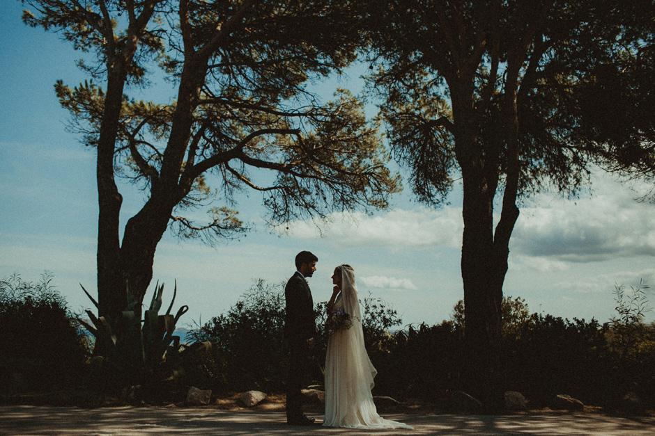 gli sposi arrivano a Villa D'Erica resort 5 stelle in Costa Smeralda