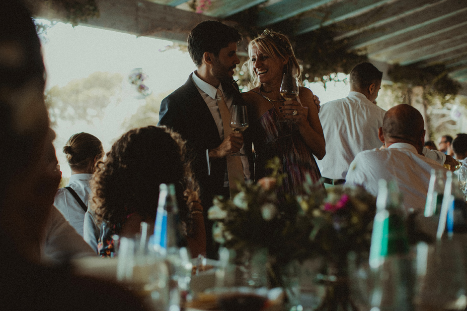 momenti di reportage durante il pranzo di matrimonio di Caterina ed Enrico