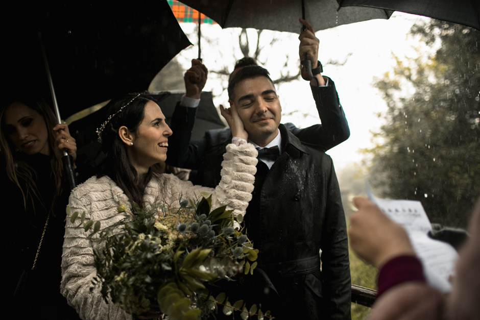 the ceremony under the rain