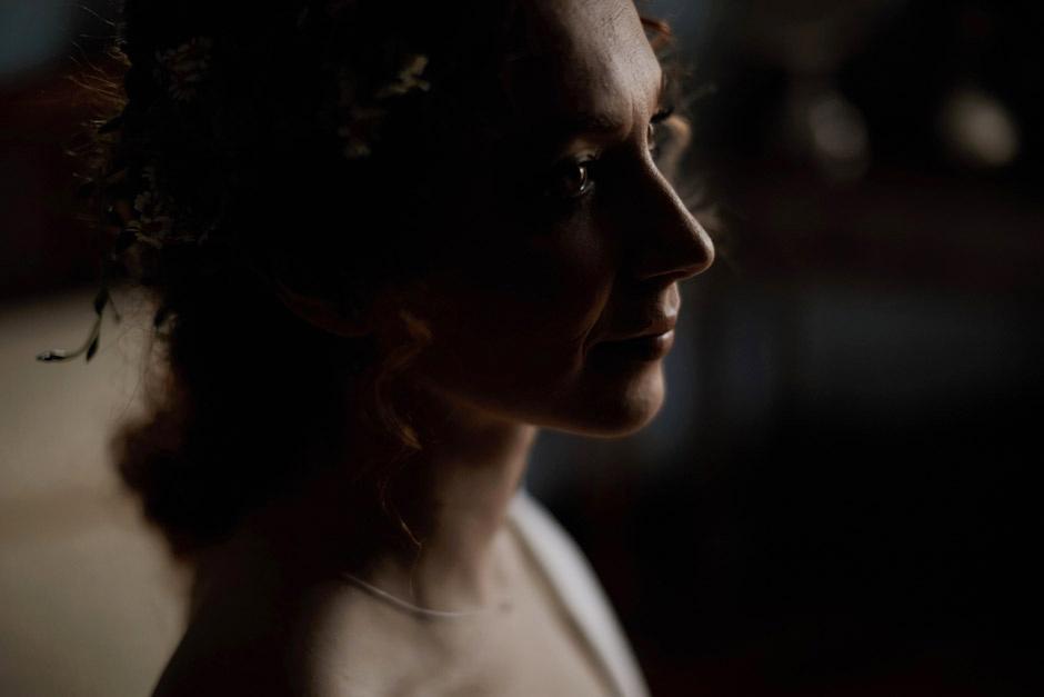 beautiful portrait of a bride in Nuoro