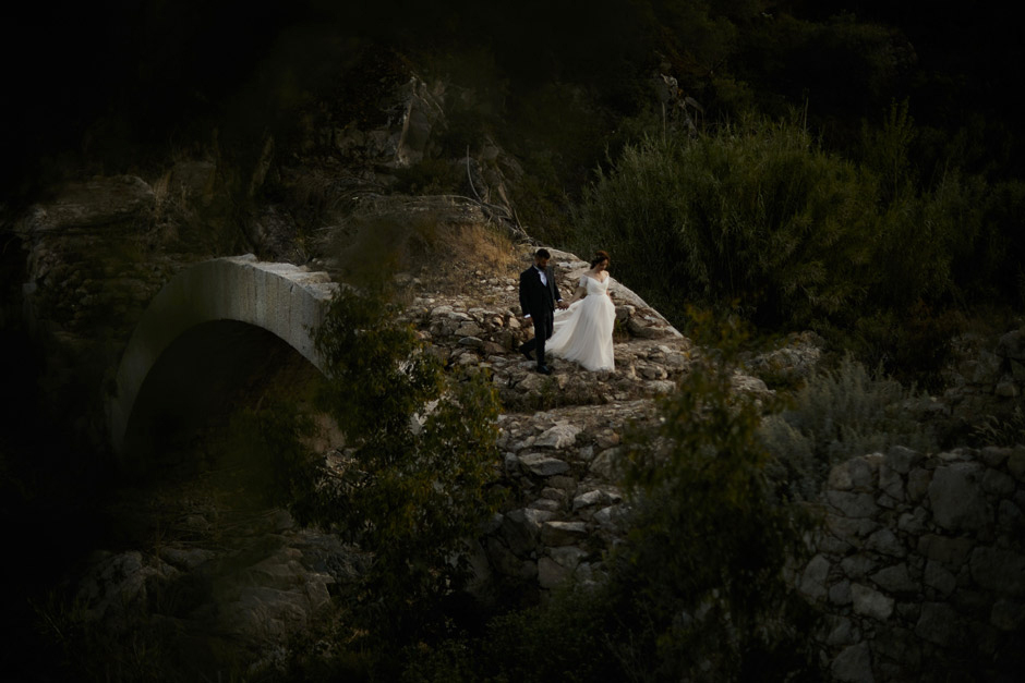 amazing location for bride and groom portrait