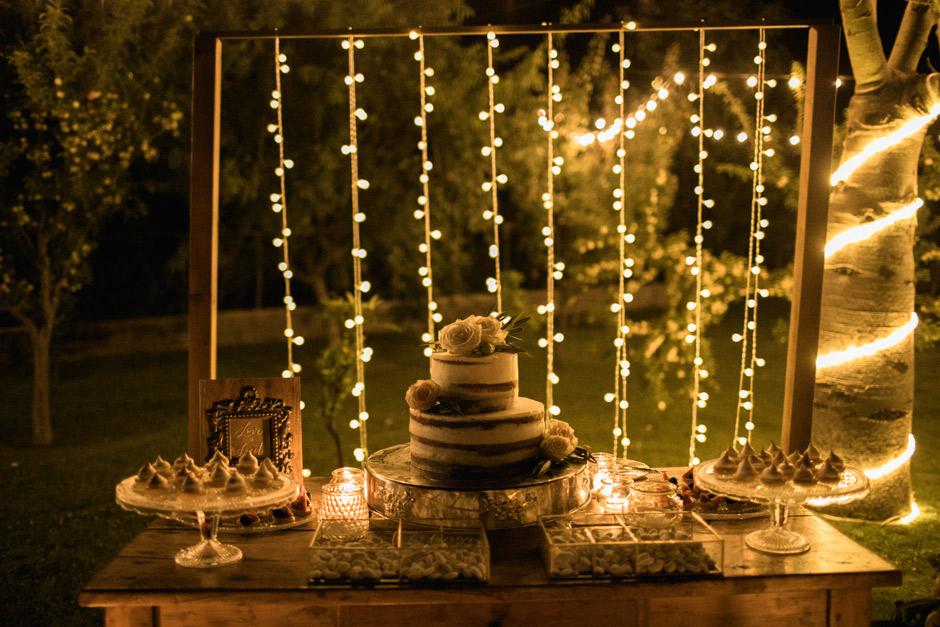 the cake at Ollastu wedding venue in Sardinia