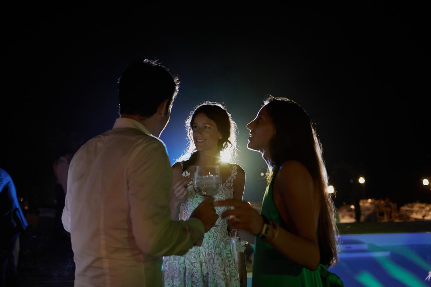 la festa di matrimonio presso la villa privata di famiglia in Costa smeralda